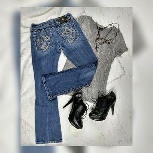 Miss Me Bootcut Embellished Jeans JE5073-2R Sz 25